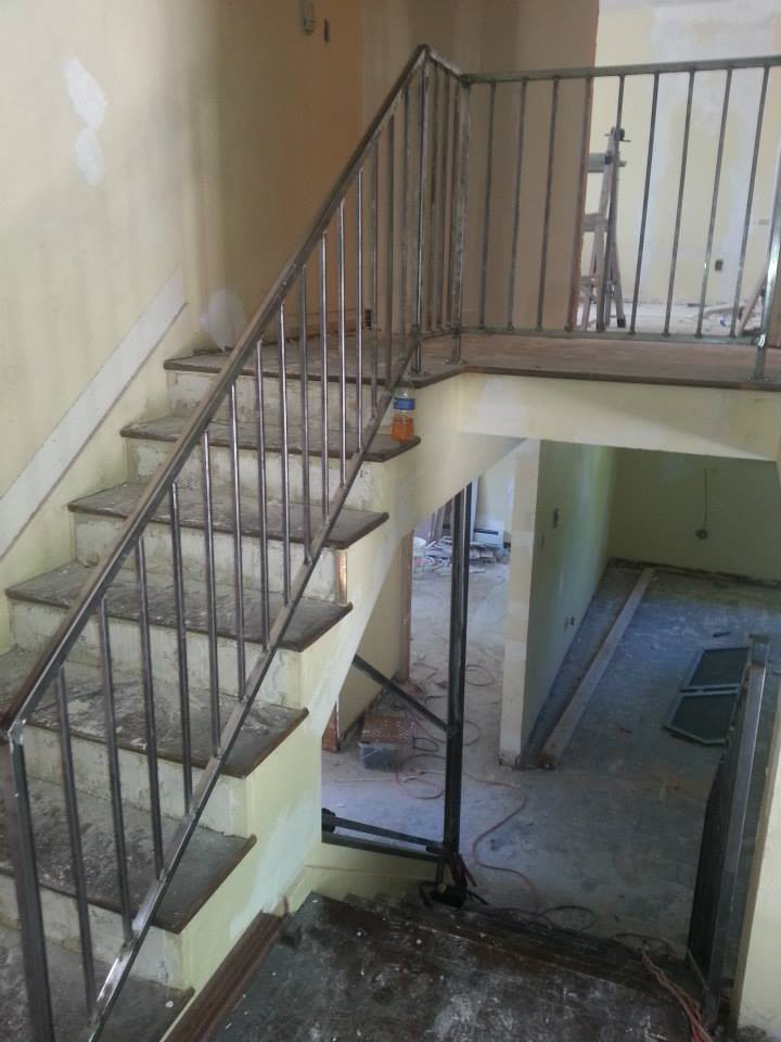 Custom Stair Rails Flawless Steel Welding